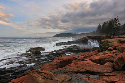 Photograph - Thunder Hole by Sara Hudock