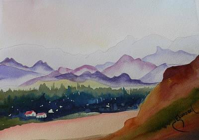Thunderbird Park In The Mist Art Print