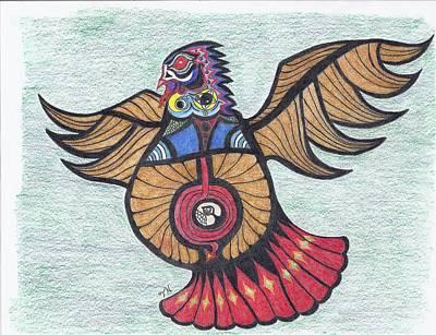Thunderbird Totem Art Print by Tony  Nelson