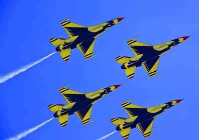 Thunderbirds Ascending Art Print by Michael Wilcox