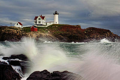 Lighthouse Maine Photograph - Thundering Tide by Rick Berk