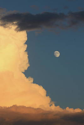 Photograph - Thunderstorm Cloud And Moon by John Burk