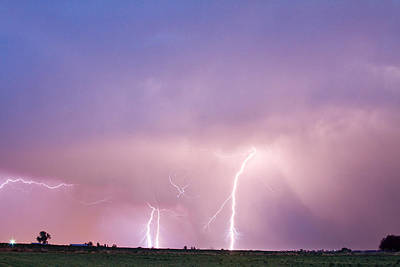 Thunderstorm On The Plains Art Print by James BO  Insogna