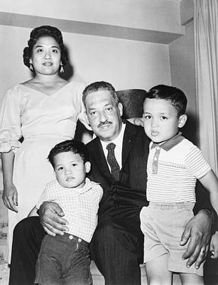 Thurgood Marshall With His Wife Art Print