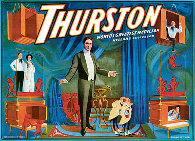 Magician Painting - Thurston World's Greatest Magician by Unknown