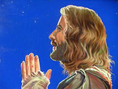 Jesus Painting - Thy Will Be Done by Yulia Litvinova