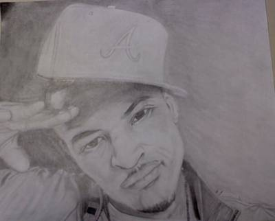 Hop Drawing - T.i. by Michael Bennett