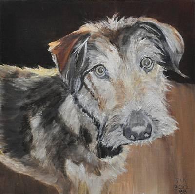 Mongrel Painting - Tia A Rescue Dog by Barbara Bradbury