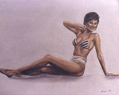 Painting - Tia Carrere by Bryan Bustard