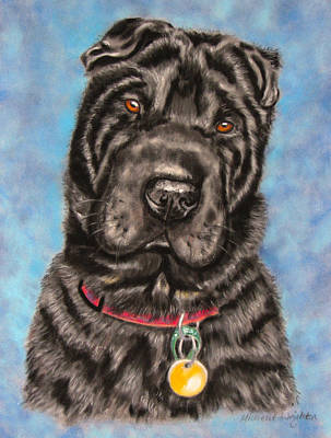 Painting - Tia Shar Pei Dog Painting by Michelle Wrighton
