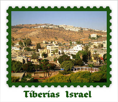 Photograph - Tiberias  Israel  Postage Stamp Look by John Shiron