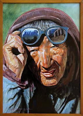 Tibetan Woman Original by John Lautermilch