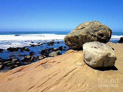 San Diego Photograph - Tidepool Boulders Point Loma by RJ Aguilar
