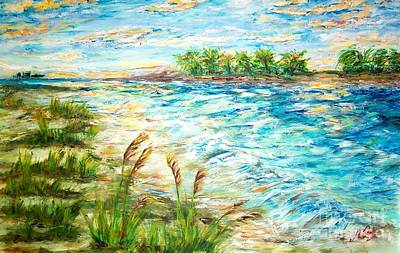 Painting - Tides At Sunset by Mary Sedici