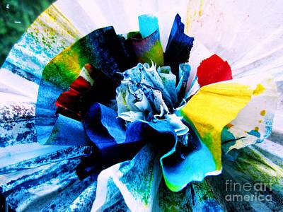 Spatter Mixed Media - Tie-dye Bloom by Shana Blake