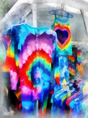Photograph - Tie Dye Shirts by Susan Savad