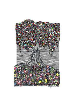Tiffany Drawing - Tiffany Tree by Dean Ellis