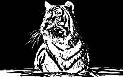 Tiger 1 Art Print by Lori Jackson