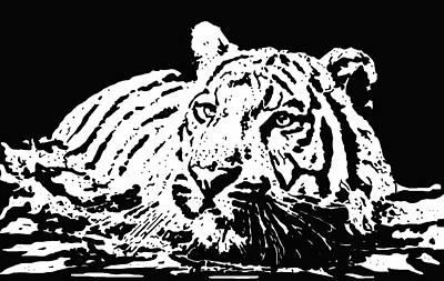 Tiger 2 Art Print by Lori Jackson