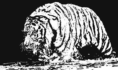 Tiger 3 Art Print by Lori Jackson