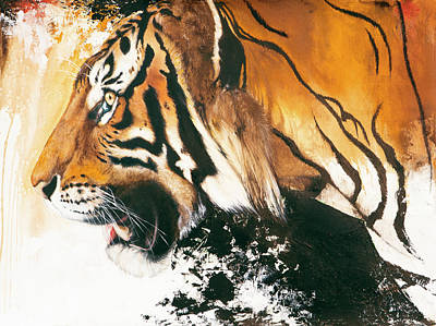 Mixed Media - Tiger by Anthony Burks Sr