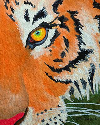 Painting - Tiger Eye 2 by John  Sweeney