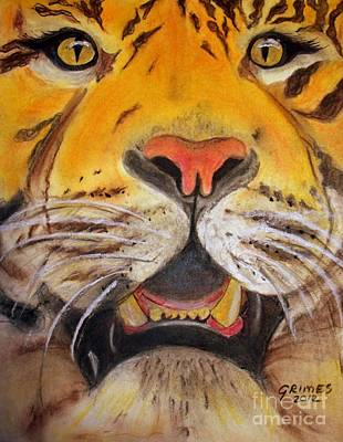 Painting - Tiger Eyes by Carol Grimes