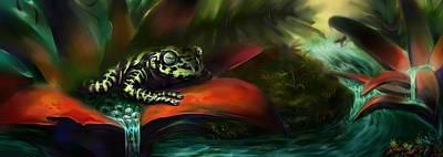 Tiger Frog Art Print