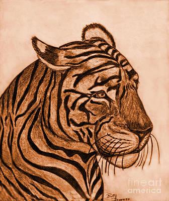 Tiger IIi Art Print by Debbie Portwood