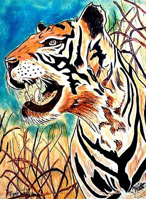 Tiger In The Grass Original by Mike Holder
