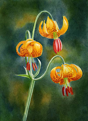 Yellow Lily Painting - Tiger Lilies #3 by Sharon Freeman