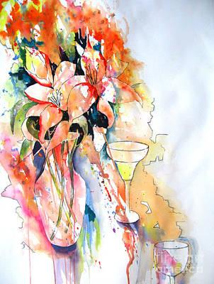 Tiger Lilies Art Print by Vicki Brevell