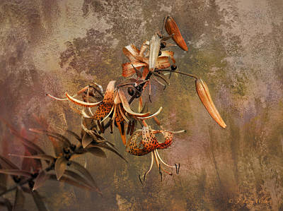 Digital Art - Tiger Lily Abstract by J Larry Walker