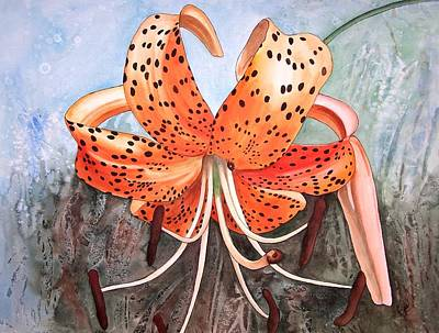 Painting - Tiger Lily by Karen Casciani