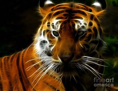Tiger Portrait Art Print by Katja Zuske