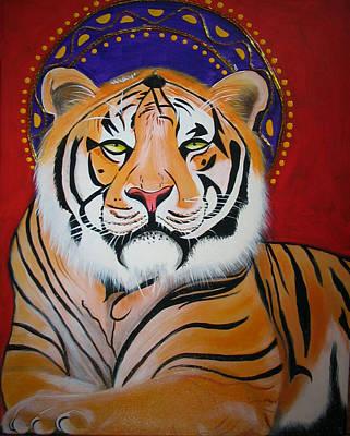 Christina Miller Painting - Tiger Saint by Christina Miller