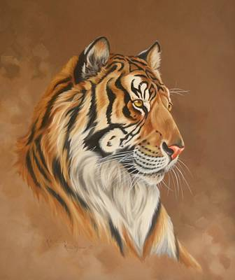 Painting - Tiger Tiger by Kathleen  Hill
