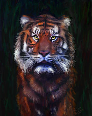 Endangered Wildlife Painting - Tiger Tiger by Michelle Wrighton