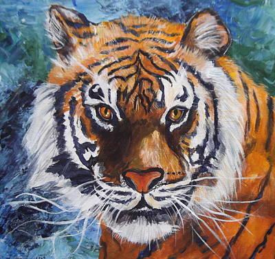 Tiger Art Print by Trudy Morris