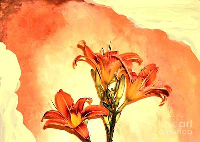 Wrap Digital Art - Tigerlily Blend by Marsha Heiken