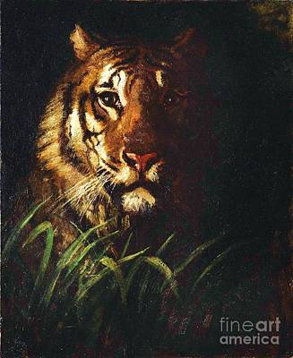 Painting - Tigers Head by Pg Reproductions