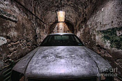 Rusted Cars Photograph - Tight Squeeze by Andrew Paranavitana