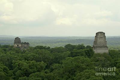 Guatemala Photograph - Tikal Temples Guatemala by John  Mitchell