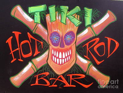 Painting - Tiki Hot Rod Bar by Alan Johnson