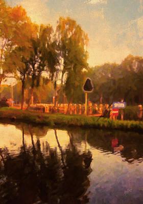Nederland Digital Art - Tilburg Water Lock At Reeshof by Nop Briex