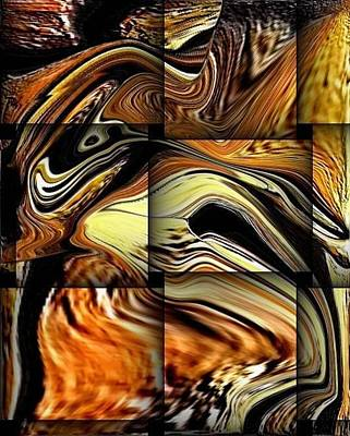 Digital Art - Tile Abstract 35 by Teo Alfonso