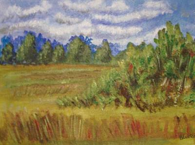 Art Print featuring the painting Tillar Field by Belinda Lawson
