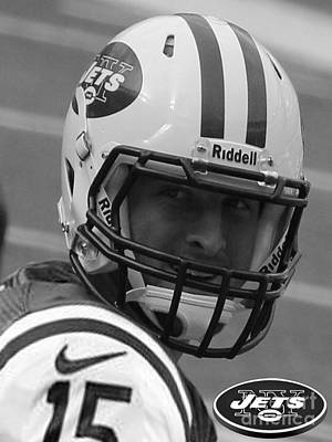 Tim Tebow Photograph - Tim Tebow - Black And White - New York Jets Florida Gators - Timothy Richard Tebow by Lee Dos Santos