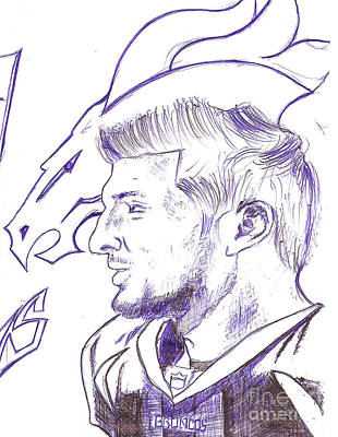 Denver Broncos Drawing - Tim Tebow  by HPrince De Artist