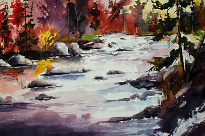 Timber Chute Falls Art Print